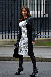 Carol Vorderman arrives at 10 Downing Street, London, UK, for a reception to celebrate inspirational women.<br />  Thursday, 6th March 2014. Picture by Ben Stevens / i-Images