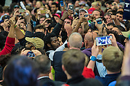 Black Lives Matter protestors clash with Trump supporters at Republican presidential candidate Donald Trump's campaign rally in New Orleans, as they are escorted out by security. <br /> The New Orleans rally on Friday, March 4, 2016 at Lakefront Airport took place a day before the primary vote.
