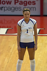 22 October 2006: Caitlin Schaffstall. Illinois State University swept Evansville in 3 straight games of a best of 5 match. The Evansville Purple Aces met the Redbirds of Illinois State at Redbird Arena on the campus of Illinois State University in Normal Illinois.<br />