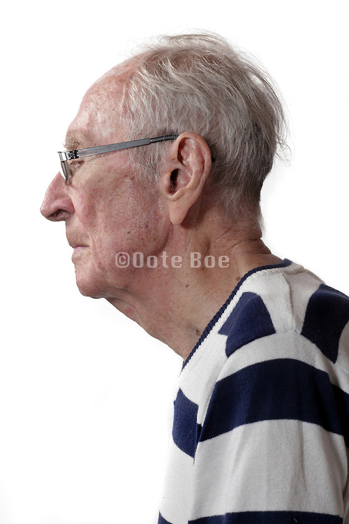 side view senior man