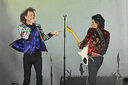 June 19, 2018 - London, England, United Kingdom - 6/19/18.Keith Richards, Mick Jagger, Ron Wood and Charlie Watts of ''The Rolling Stones'' perform at Twickenham Stadium in London, England. (Credit Image: © Starmax/Newscom via ZUMA Press)