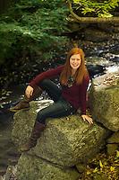 Emily senior portrait session Tannery Covered Bridge..  ©2105 Karen Bobotas Photographer