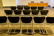 Empty seats in a vacant meeting room, on 5th March 2017, at the Barbican in the City of London, England.