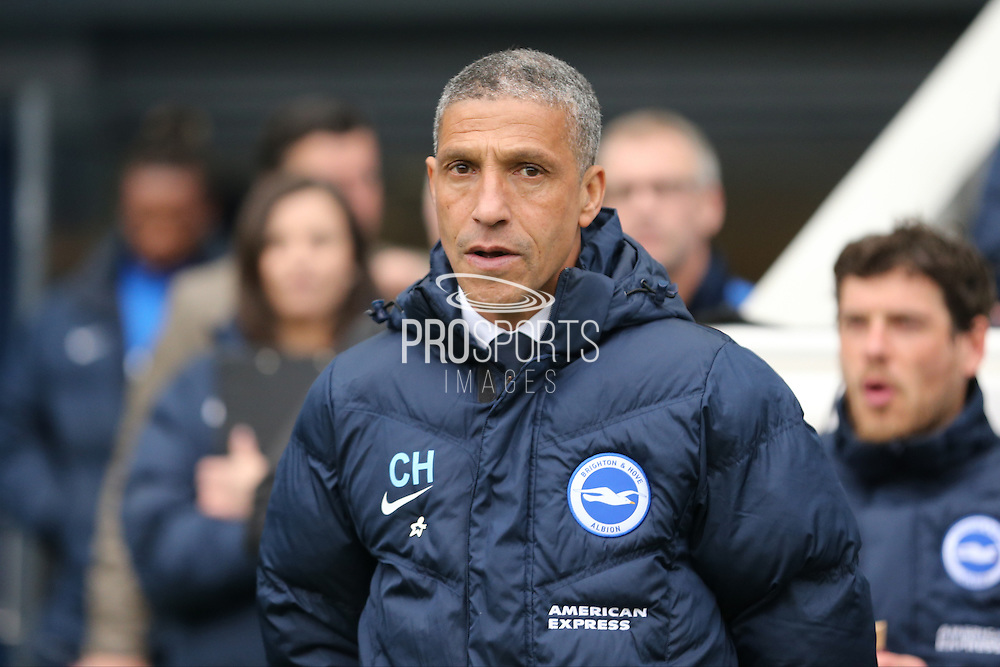 Brighton Manager, Chris Hughton during the Sky Bet Championship match between Brighton and Hove Albion and Derby County at the American Express Community Stadium, Brighton and Hove, England on 2 May 2016.