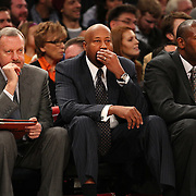 Mike Woodson, Coach of the New York Knicks, during the New York Knicks vs Milwaukee Bucks, NBA Basketball game at Madison Square Garden, New York. USA. 15th March 2014. Photo Tim Clayton