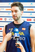 Pau Gasol during the Spain training session before EuroBasket 2017 in Madrid. August 02, 2017. (ALTERPHOTOS/Borja B.Hojas)