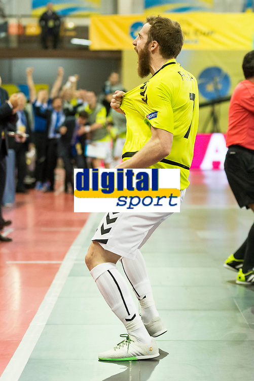 Inter FS's Pola celebrating a goal during UEFA Futsal Cup 2015/2016 Final match. April 22,2016. (ALTERPHOTOS/Acero)