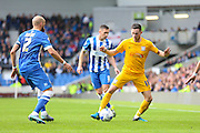 Preston North End midfielder Alan Browne (16) on the ball  during the Sky Bet Championship match between Brighton and Hove Albion and Preston North End at the American Express Community Stadium, Brighton and Hove, England on 24 October 2015. Photo by Phil Duncan.
