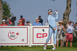 August 23, 2018 - Regina, SK, U.S. - REGINA, SK - AUGUST 23: Jessica Korda (USA) watches her tee shot on 12 during the CP Women's Open Round 1 at Wascana Country Club on August 23, 2018 in Regina, SK, Canada. (Photo by Ken Murray/Icon Sportswire) (Credit Image: © Ken Murray/Icon SMI via ZUMA Press)