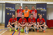Wallcell's with the Scottish Futsal Cup - Wattcell Futsal Club (red and white) v TMT Futsal Club (yellow) in the Scottish Futsal Cup Final at Perth College, Perth, Photo: David Young<br /> <br />  - © David Young - www.davidyoungphoto.co.uk - email: davidyoungphoto@gmail.com