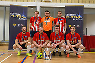 Wallcell's with the Scottish Futsal Cup - Wattcell Futsal Club (red and white) v TMT Futsal Club (yellow) in the Scottish Futsal Cup Final at Perth College, Perth, Photo: David Young<br /> <br />  - &copy; David Young - www.davidyoungphoto.co.uk - email: davidyoungphoto@gmail.com