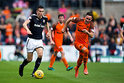 Dundee midfielder Glen Kamara (#8) is pursued by Dundee United midfielder Jordie Briels (#20) during the Betfred Scottish Cup group stage match between Dundee and Dundee United at Dens Park, Dundee, Scotland on 29 July 2017. Photo by Craig Doyle.