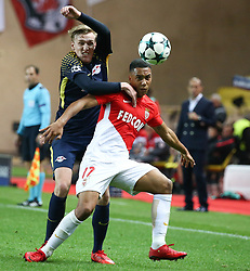 FONTVIEILLE, Nov. 22, 2017  Youri Tielemans (R) of Monaco competes with Kevin Kampl of Leipzig during their Group G match of UEFA Champions League in Fontvieille, Monaco on Nov. 21, 2017. Monaco was defeated 1-4. (Credit Image: © Serge Haouzi/Xinhua via ZUMA Wire)