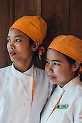 Chefs Sok Kimsan (L.) and Pol Kimsan (R.) at Embassy restuarant, Siem Reap