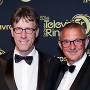 NLD/Amsterdam/20181011 - Televizier Gala 2018, Hans Schiffers en partner Rob Sol