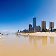Surfers Paradise, Gold Coast, Australia. High resolution panorama.