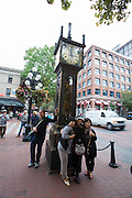 Gastown. The Steam Clock, designed and built by Canadian horologist Raymond Saunders, is Vancouver's most famous landmark and a must-see for all visitors.