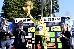 March 16, 2019 - Col De Turini, France - BERNAL GOMEZ Egan Arley (COL) of TEAM SKY pictured with the yellow jersey during stage 7 of the 2019 Paris - Nice cycling race with start in Nice and finish in Col de Turini  on March 16, 2019 in Col De Turini, France, (Credit Image: © Panoramic via ZUMA Press)