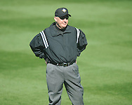 Umpire Tony Walsh at Ole Miss vs. Rhode Island at Oxford-University Stadium in Oxford, Miss. on Sunday, February 24, 2013. Ole Miss won 5-3 to improve to 7-0.