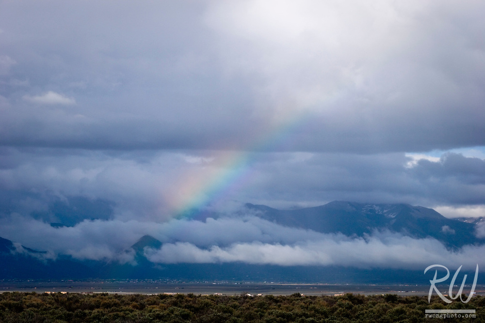 Rainbow over Sangre de Cristo Mountains, Taos County, New Mexico