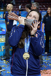 NICOLE DAVIS<br /> AWARDING CEREMONY<br /> VOLLEYBALL WOMEN'S WORLD CHAMPIONSHIP 2014<br /> MILAN 12-10-2014<br /> PHOTO BY FILIPPO RUBIN