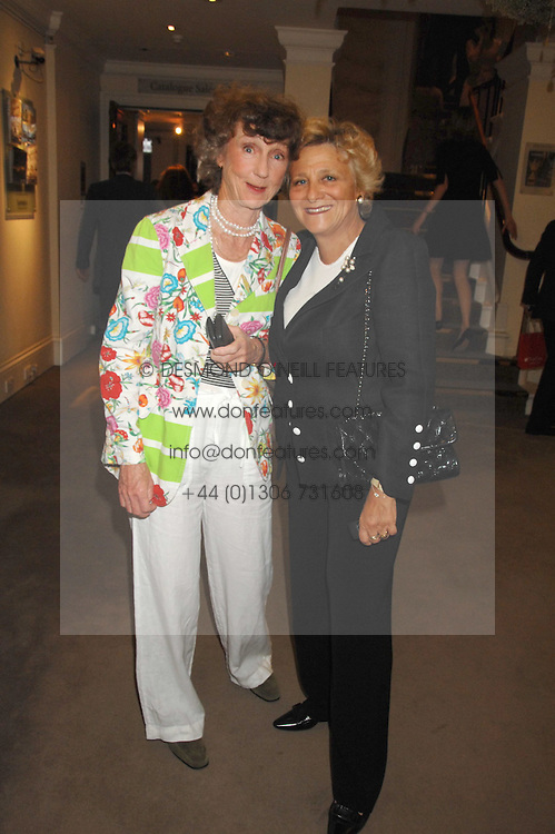 Left to right, LINDY, MARCHIONESS OF DUFFERIN & AVA and DAME VIVIEN DUFFIELD at the Sotheby's Summer Party 2007 at their showrooms in New Bond Street, London on 4th June 2007.<br />