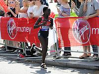 Athletics - 2018 Virgin Money London Marathon<br /> <br /> Mary Keitany of Kenya<br /> <br /> COLORSPORT/ANDREW COWIE