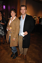 Artist TRACEY EMIN and SCOTT DOUGLAS at an auction in aid of The Parkinson's Appeal for Deep Brain Stimulation 'Meeting of Minds' held at Christie's, King Street, London SW1 followed by a dinner at St.John, 26 St.John Street, London on 16th October 2007.<br />