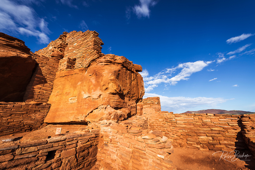 Morning light on Wupatki ruins, Wupatki National Monument, Arizona
