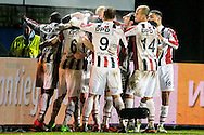 Onderwerp/Subject: Willem II - Eredivisie<br /> Reklame:  <br /> Club/Team/Country: <br /> Seizoen/Season: 2012/2013<br /> FOTO/PHOTO: Hans MULDER of Willem II celebrating his goal with Aurelien JOACHIM (FRONT) of Willem II and Philipp HAASTRUP (R) of Willem II and Gaby JALLO (C) of Willem II and Virgil MISIDJAN (L) of Willem II. (Photo by PICS UNITED)<br /> <br /> Trefwoorden/Keywords: <br /> #02 $94 ±1342781806743<br /> Photo- & Copyrights © PICS UNITED <br /> P.O. Box 7164 - 5605 BE  EINDHOVEN (THE NETHERLANDS) <br /> Phone +31 (0)40 296 28 00 <br /> Fax +31 (0) 40 248 47 43 <br /> http://www.pics-united.com <br /> e-mail : sales@pics-united.com (If you would like to raise any issues regarding any aspects of products / service of PICS UNITED) or <br /> e-mail : sales@pics-united.com   <br /> <br /> ATTENTIE: <br /> Publicatie ook bij aanbieding door derden is slechts toegestaan na verkregen toestemming van Pics United. <br /> VOLLEDIGE NAAMSVERMELDING IS VERPLICHT! (© PICS UNITED/Naam Fotograaf, zie veld 4 van de bestandsinfo 'credits') <br /> ATTENTION:  <br /> © Pics United. Reproduction/publication of this photo by any parties is only permitted after authorisation is sought and obtained from  PICS UNITED- THE NETHERLANDS