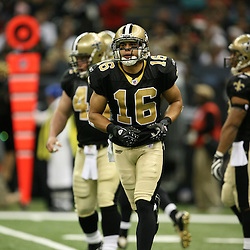 2007 December, 16: New Orleans Saints wide receiver Lance Moore (16) during a 31-24 win by the New Orleans Saints over the Arizona Cardinals at the Louisiana Superdome in New Orleans, LA.