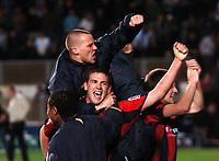 Photo: Tony Oudot.<br /> Milton Keynes Dons v Shrewsbury Town. Coca Cola League 2. Play off Semi Final 2nd Leg. 18/05/2007.<br /> Shrewsbury celebrate their win