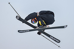 February 18, 2018 - Pyeongchang, Gangwon, South Korea - Oscar Wester of  Sweden competing in slope style for men at phoenix park, Pyeongchang,  South Korea on Febuary 18, 2019. (Credit Image: © Ulrik Pedersen/NurPhoto via ZUMA Press)