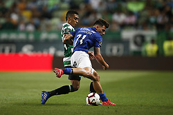 September 1, 2018 - Lisbon, Portugal - Raphinha of Sporting (L) vies for the ball with Fabio Sturgeon of Feirense (R)  during Primeira Liga 2018/19 match between Sporting CP vs CD Feirense, in Lisbon, on September 1, 2018. (Credit Image: © Carlos Palma/NurPhoto/ZUMA Press)