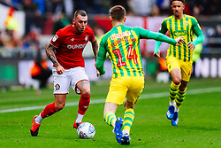 Jack Hunt of Bristol City is challenged by Conor Townsend of West Brom - Rogan/JMP - 22/02/2020 - Ashton Gate Stadium - Bristol, England - Bristol City v West Bromwich Albion - Sky Bet Championship.