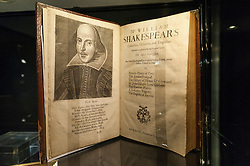 © Licensed to London News Pictures. 29/06/2016. London, UK.  The third folio edition of Shakespeare's plays, regarded as the rarest of the folio editions (GBP 500k) at the preview, in Chelsea, of Masterpiece London, the leading international fair for art and design from antiquity to the present day with works from 154 world-renowned exhibitors on sale.  The fair is open until 6 July.Photo credit : Stephen Chung/LNP