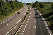 Traffic on A12 dual carriageway road, Pettistree, Suffolk, England