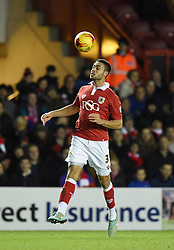 Bristol City's Derrick Williams in action during the Johnstone's Paint Trophy south area final second leg match between Bristol City and Gillingham at Ashton Gate on 29 January 2015 in Bristol, England - Photo mandatory by-line: Paul Knight/JMP - Mobile: 07966 386802 - 29/01/2015 - SPORT - Football - Bristol - Ashton Gate Stadium - Bristol City v Gillingham - Johnstone's Paint Trophy