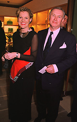 SIR TERENCE CONRAN and MISS VICTORIA DAVIS, at a party in London on 24th February 1998.MFP 31