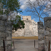 Warriors temple at Chichen Itza. Yucatan, Mexico.