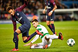 PARIS, Nov. 23, 2017  Neymar (L) of Paris Saint-Germain competes with Nir Bitton of Celtic FC during the Group B match of 2017-18 UEFA Champions League in Paris, France on Nov. 22, 2017. Paris Saint-Germain won 7-1 at home. (Credit Image: © Chen Yichen/Xinhua via ZUMA Wire)