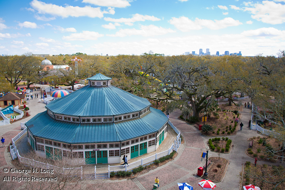 Carousel at City Park; view from the ferris wheel