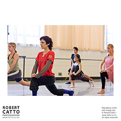 Dancer Sara Procopio from the Shen Wei Dance Company leads a student dance workshop at the New Zealand International Arts Festival 2008, in Wellington New Zealand.