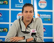 Ajla Tomljanovic (CRO) press conference<br /> <br /> Tennis - Brisbane International 2015 - ATP 250 - WTA -  Queensland Tennis Centre - Brisbane - Queensland - Australia  - 4 January 2015. &copy; Tennis Photo Network