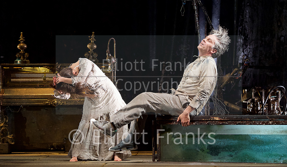 The Toad Knew <br /> James Thierree / Compagnie du Hanneton <br /> at Sadler's Wells, London, Great Britain <br /> Press photocall <br /> 3rd may 2017 <br /> <br /> James Thierree<br /> <br /> <br /> Sonia Bel Hadj Brahim <br /> <br /> <br /> Photograph by Elliott Franks <br /> Image licensed to Elliott Franks Photography Services