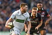 Finn Russell on the ball during the Guinness Pro 14 2017_18 match between Edinburgh Rugby and Glasgow Warriors at Myreside Stadium, Edinburgh, Scotland on 28 April 2018. Picture by Kevin Murray.