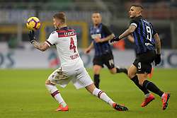 February 3, 2019 - Milan, Milan, Italy - Lyanco #4 of Bologna FC in action during the serie A match between FC Internazionale and Bologna FC at Stadio Giuseppe Meazza on February 3, 2019 in Milan, Italy. (Credit Image: © Giuseppe Cottini/NurPhoto via ZUMA Press)