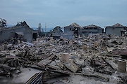 KARO, INDONESIA - APRIL 29: <br /> <br /> Aftermath Eruption Sinabung Volcano Mount<br /> <br /> A view of dozens of homes and farm burned and destroyed by eruption Sinabung volcano mount happened yesterday afternoon at Guru Kinayan village on April 29, 2015 in Karo, North Sumatra, indonesia. <br /> ©Tibt Nangin/Exclusivepix Media