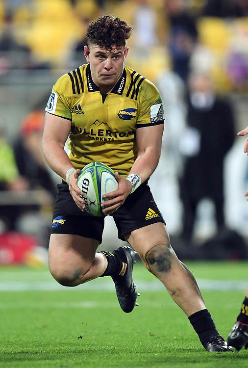 Hurricanes Ricky Riccitelli against the Chiefs in the Super Rugby match at Westpac Stadium, Napier, New Zealand, Friday, April 13, 2018. Credit:SNPA / Ross Setford