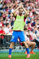 Atletico de Madrid's player Juanfran Torres during a match of La Liga Santander at Vicente Calderon Stadium in Madrid. September 17, Spain. 2016. (ALTERPHOTOS/BorjaB.Hojas)